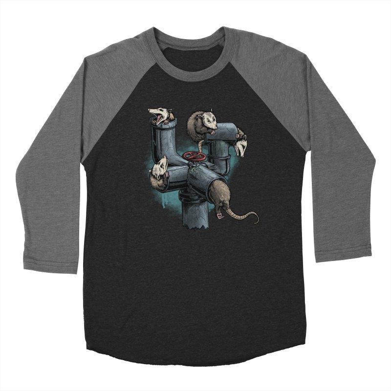 Possum Pipe Men's Baseball Triblend Longsleeve T-Shirt by Octophant's Artist Shop