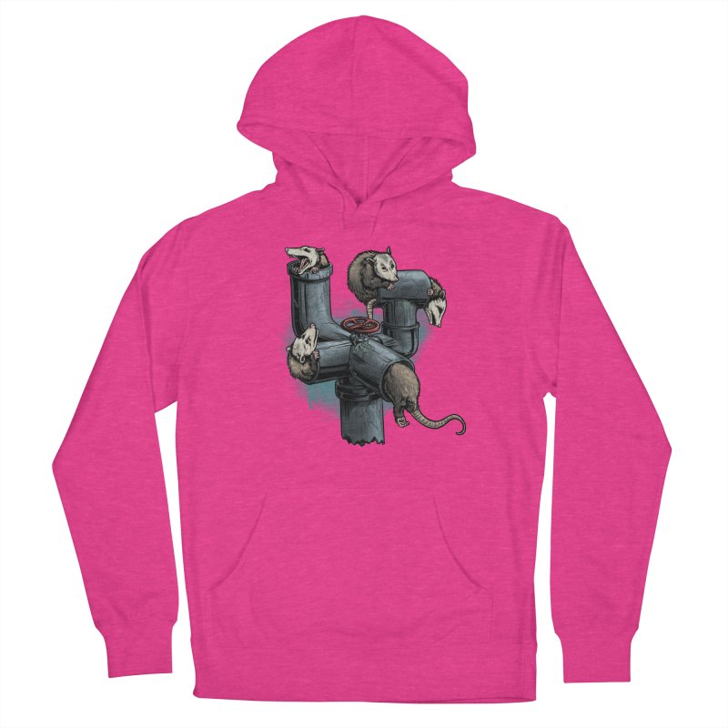 Possum Pipe Women's French Terry Pullover Hoody by Octophant's Artist Shop