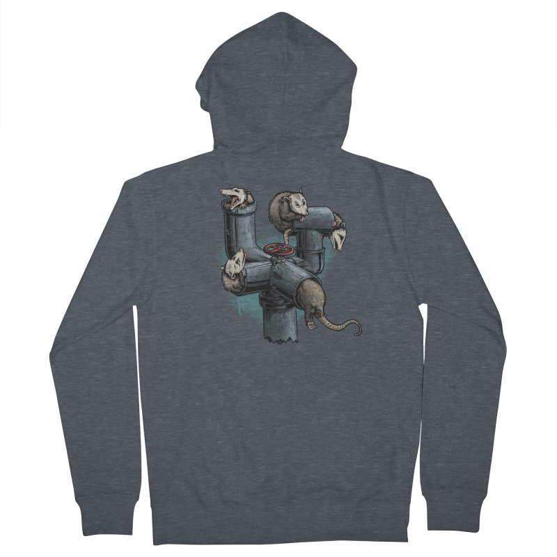 Possum Pipe Women's French Terry Zip-Up Hoody by Octophant's Artist Shop