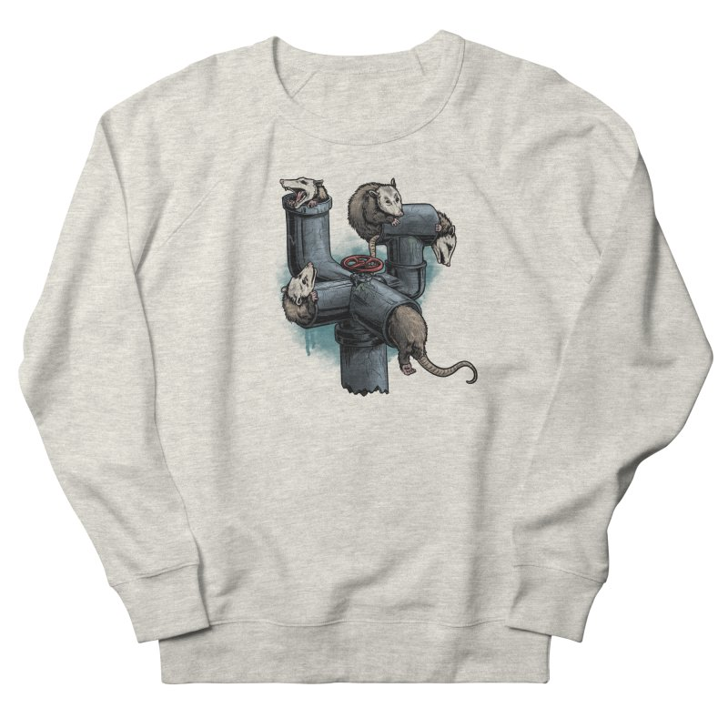 Possum Pipe Men's French Terry Sweatshirt by Octophant's Artist Shop