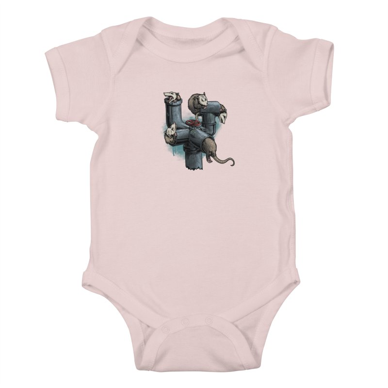 Possum Pipe Kids Baby Bodysuit by Octophant's Artist Shop