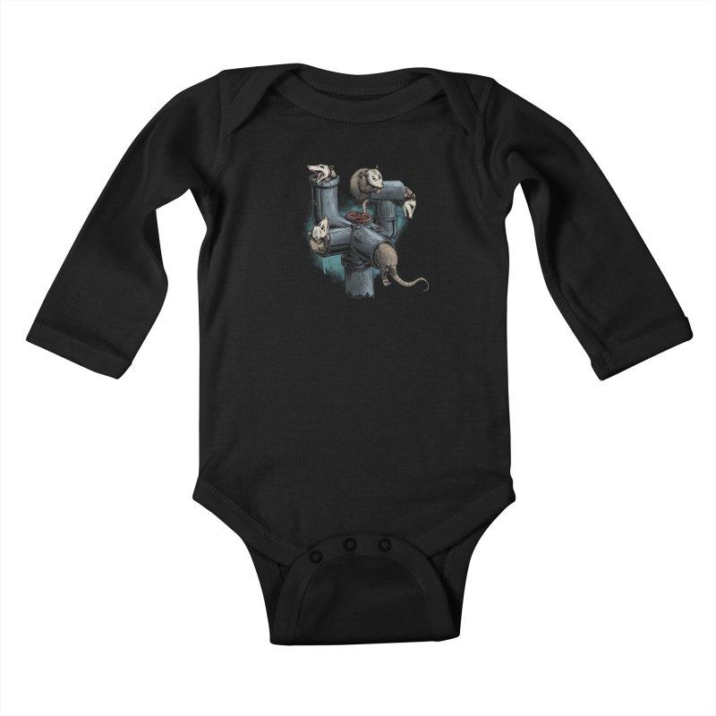 Possum Pipe Kids Baby Longsleeve Bodysuit by Octophant's Artist Shop