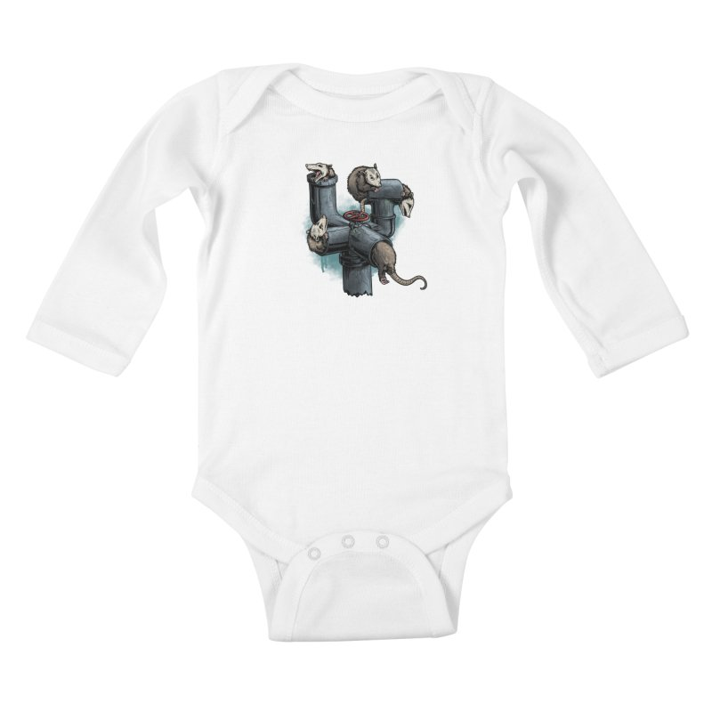 Possum Pipe Kids Baby Longsleeve Bodysuit by Octophant's Artist Shop