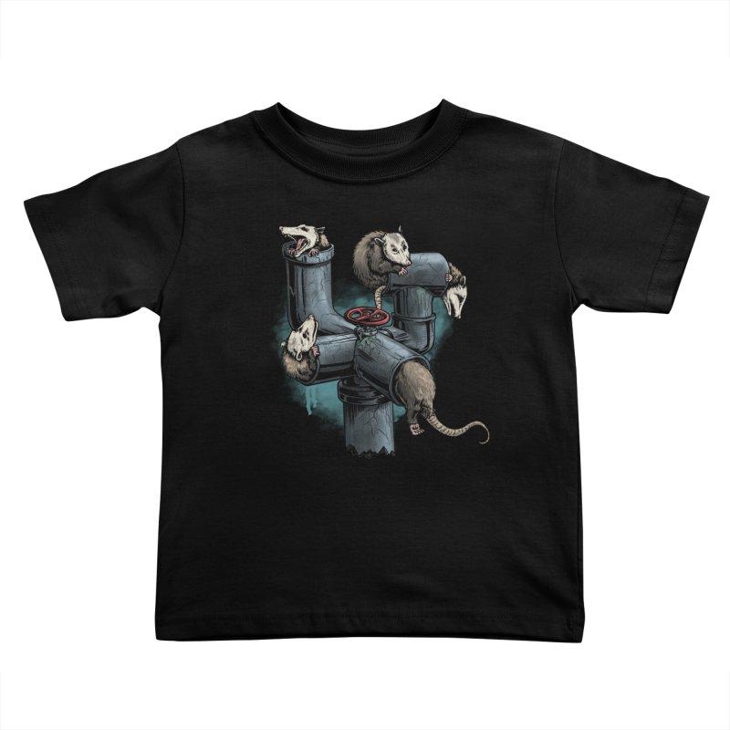 Possum Pipe Kids Toddler T-Shirt by Octophant's Artist Shop
