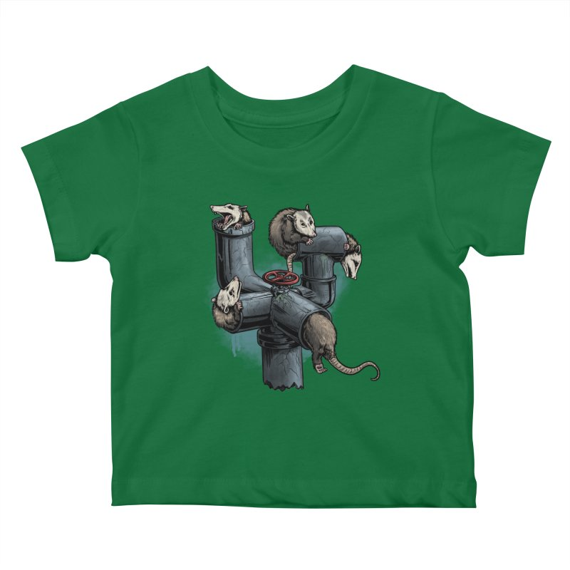 Possum Pipe Kids Baby T-Shirt by Octophant's Artist Shop
