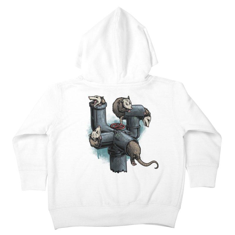 Possum Pipe Kids Toddler Zip-Up Hoody by Octophant's Artist Shop
