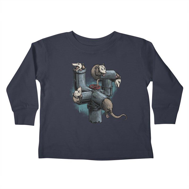 Possum Pipe Kids Toddler Longsleeve T-Shirt by Octophant's Artist Shop