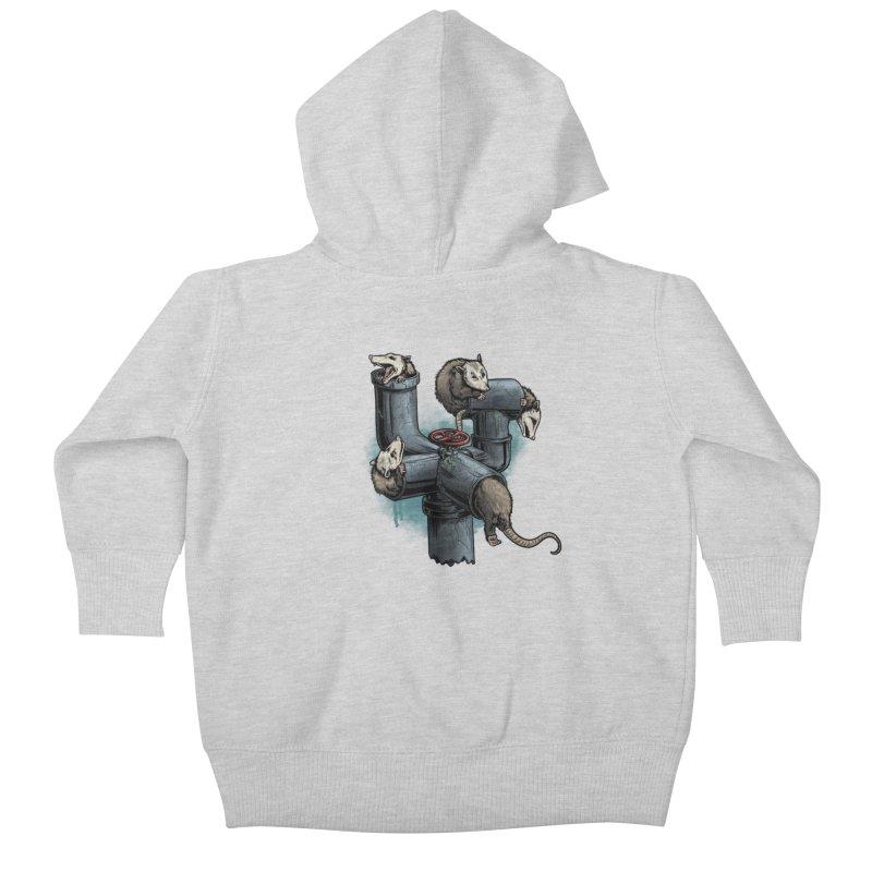 Possum Pipe Kids Baby Zip-Up Hoody by Octophant's Artist Shop