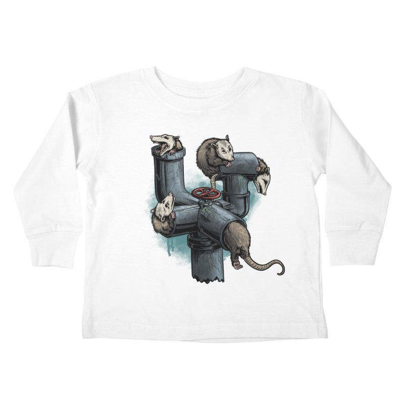 Possum Pipe Kids Toddler Longsleeve T-Shirt by Octophant's Artist Shop
