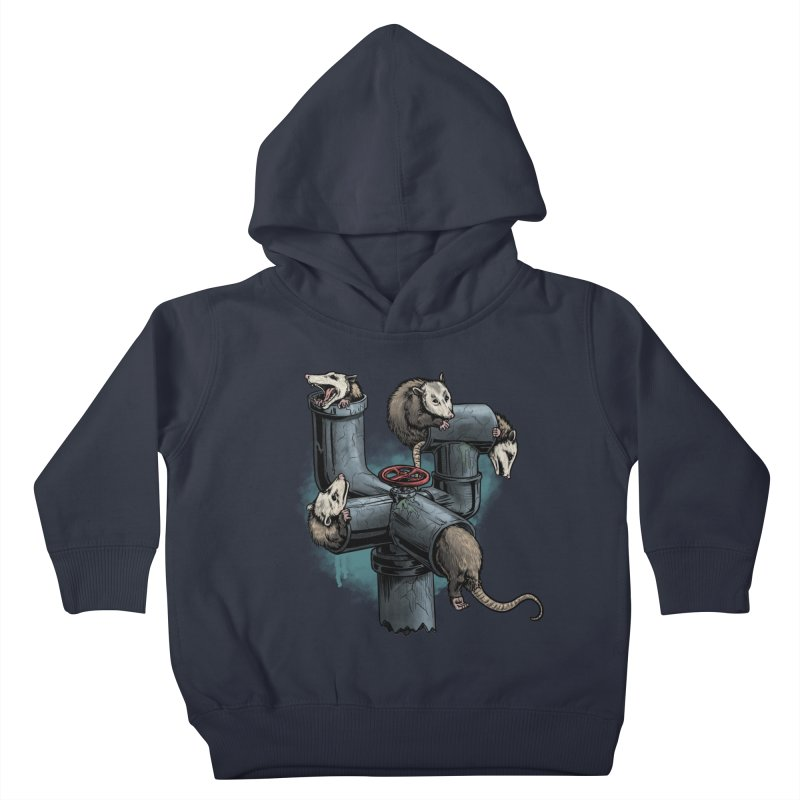 Possum Pipe Kids Toddler Pullover Hoody by Octophant's Artist Shop
