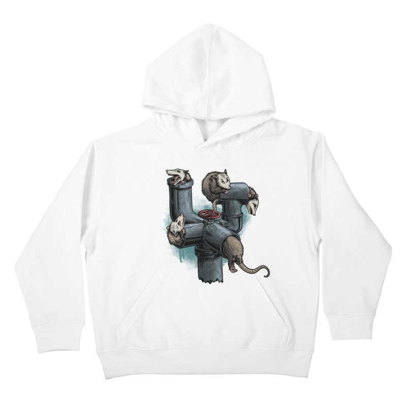 Possum Pipe Kids Pullover Hoody by Octophant's Artist Shop