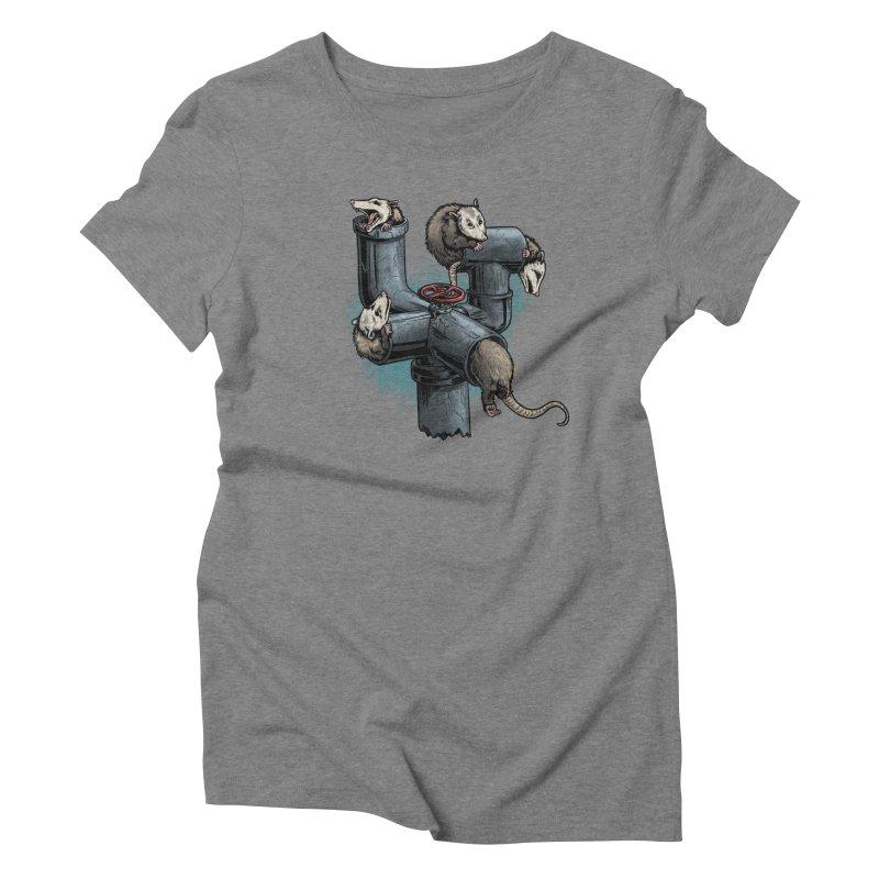 Possum Pipe Women's Triblend T-Shirt by Octophant's Artist Shop