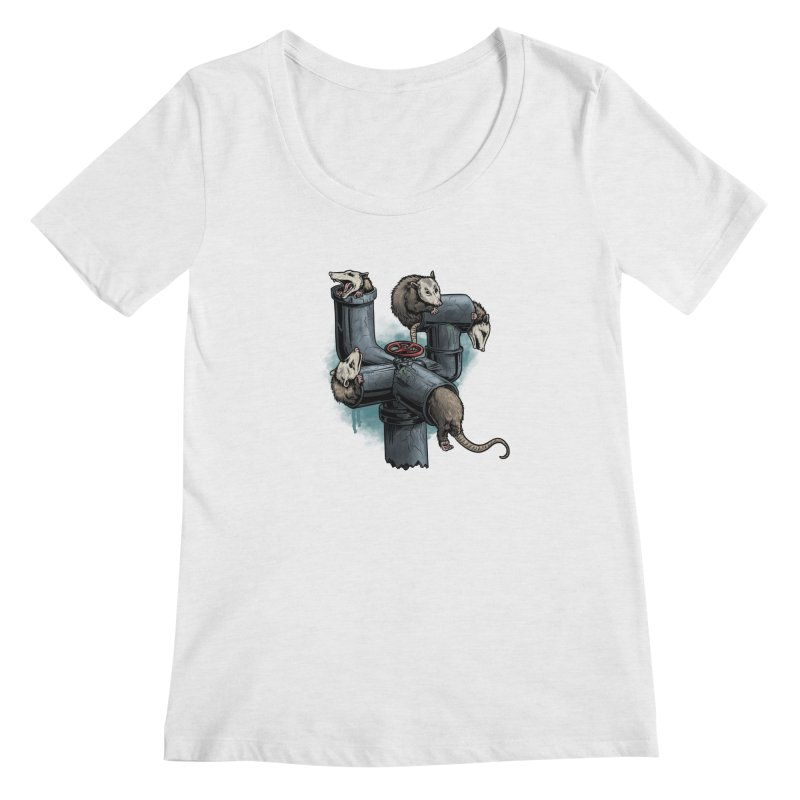 Possum Pipe Women's Regular Scoop Neck by Octophant's Artist Shop