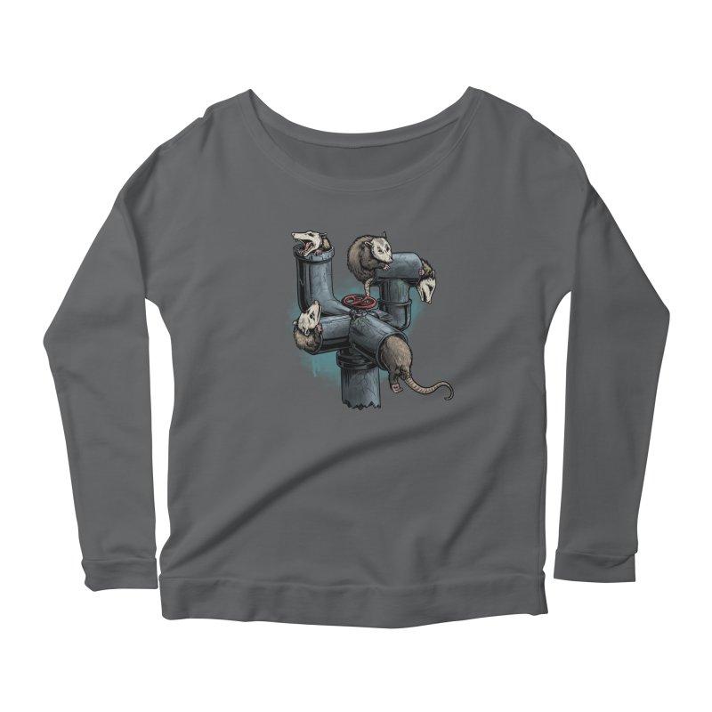 Possum Pipe Women's Scoop Neck Longsleeve T-Shirt by Octophant's Artist Shop