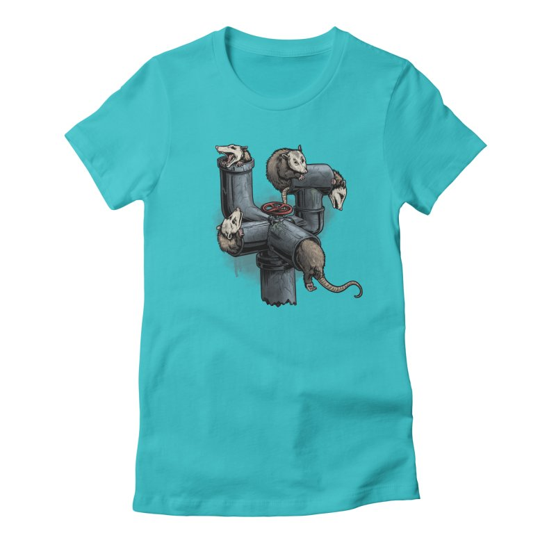 Possum Pipe Women's Fitted T-Shirt by Octophant's Artist Shop