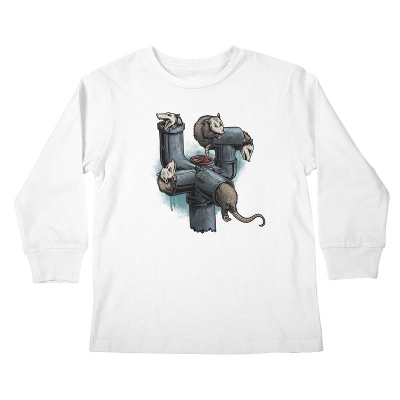 Possum Pipe Kids Longsleeve T-Shirt by Octophant's Artist Shop