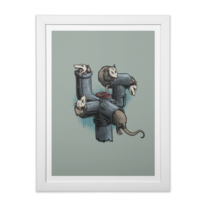 Possum Pipe Home Framed Fine Art Print by Octophant's Artist Shop