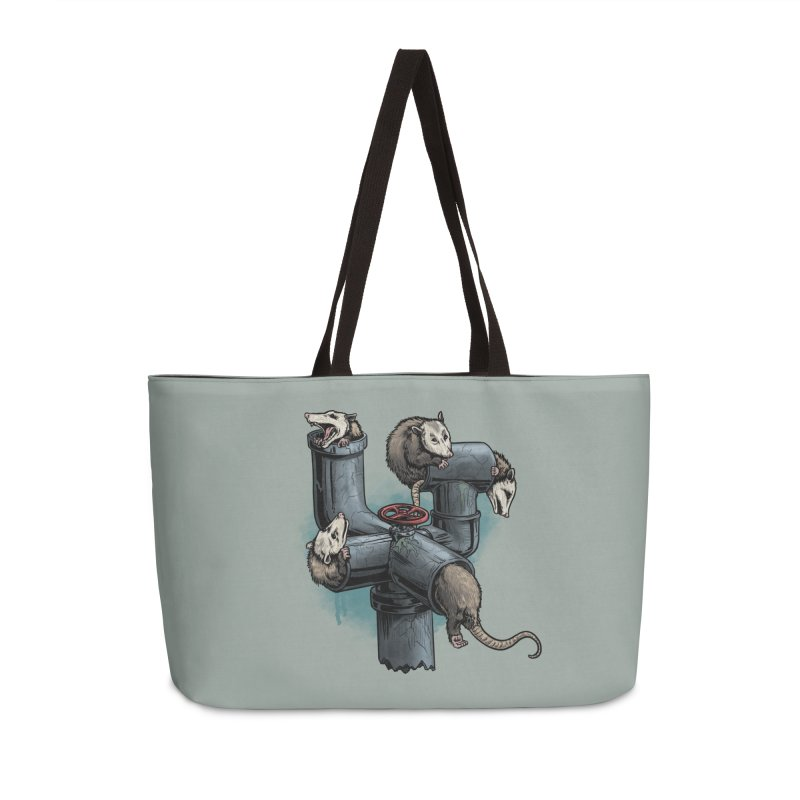 Possum Pipe Accessories Weekender Bag Bag by Octophant's Artist Shop