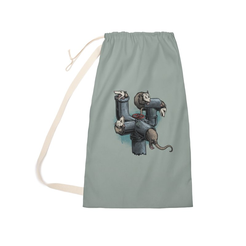 Possum Pipe Accessories Laundry Bag Bag by Octophant's Artist Shop