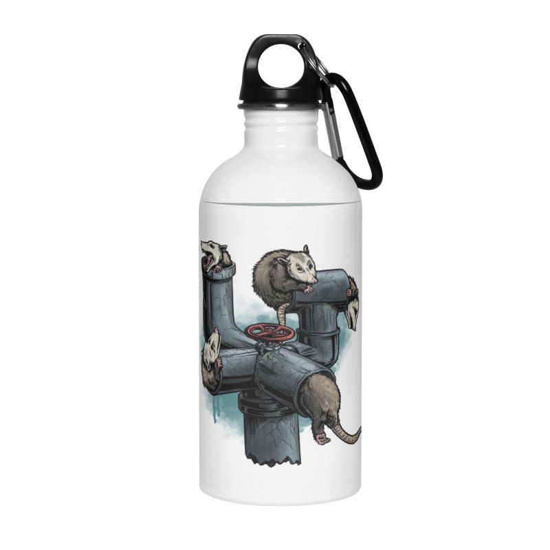 Possum Pipe Accessories Water Bottle by Octophant's Artist Shop