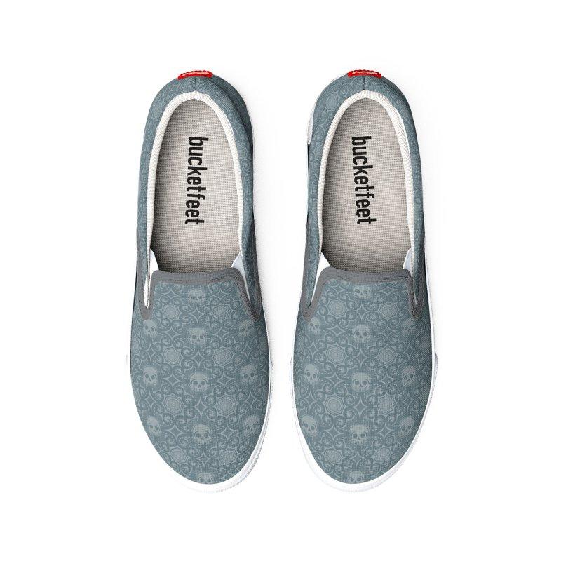 Calavera del Pulpo - Gray Women's Shoes by Octophant's Artist Shop