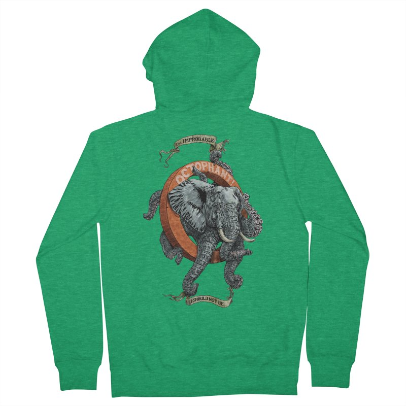 The Improbable Octophant Women's Zip-Up Hoody by Octophant's Artist Shop