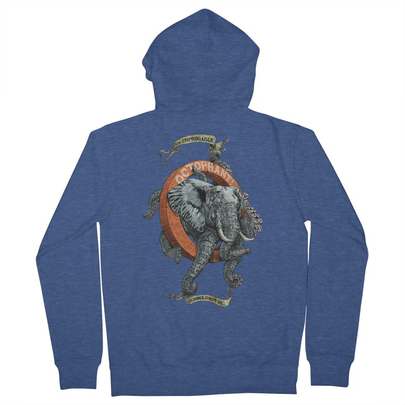 The Improbable Octophant Men's Zip-Up Hoody by Octophant's Artist Shop