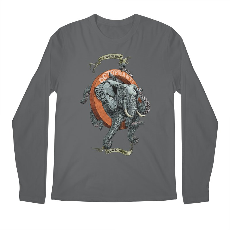 The Improbable Octophant Men's Longsleeve T-Shirt by Octophant's Artist Shop