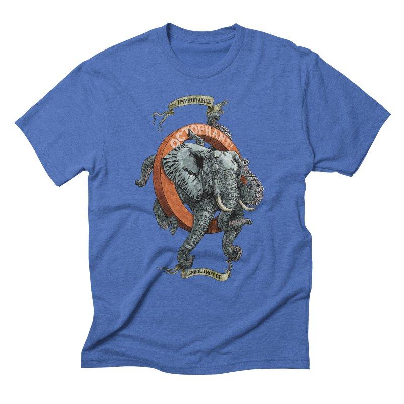 The Improbable Octophant Men's Triblend T-Shirt by Octophant's Artist Shop