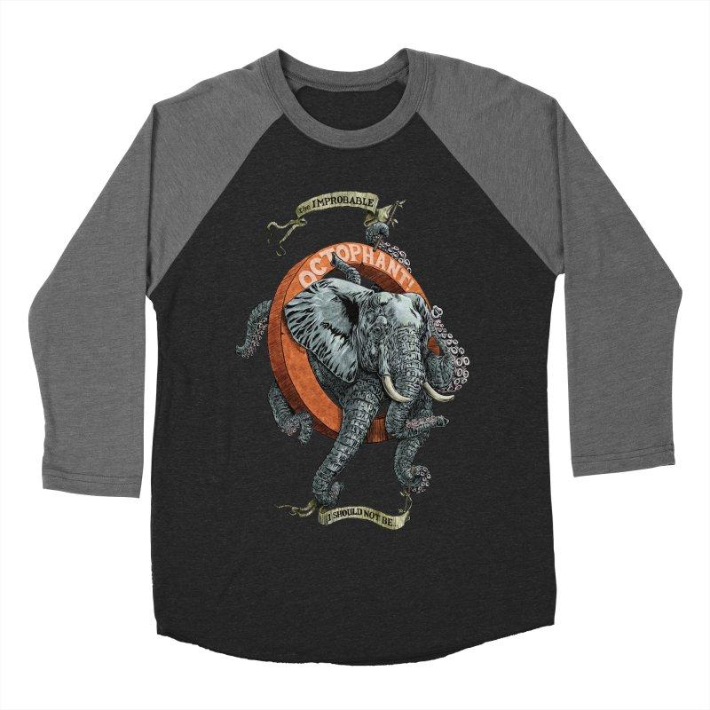 The Improbable Octophant Women's Baseball Triblend T-Shirt by Octophant's Artist Shop