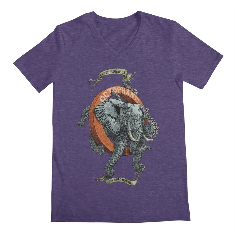 The Improbable Octophant Men's V-Neck by Octophant's Artist Shop