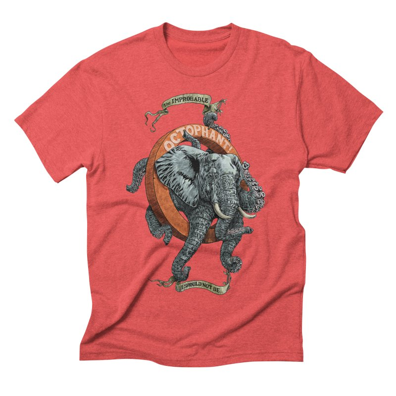 The Improbable Octophant Men's Triblend T-shirt by Octophant's Artist Shop