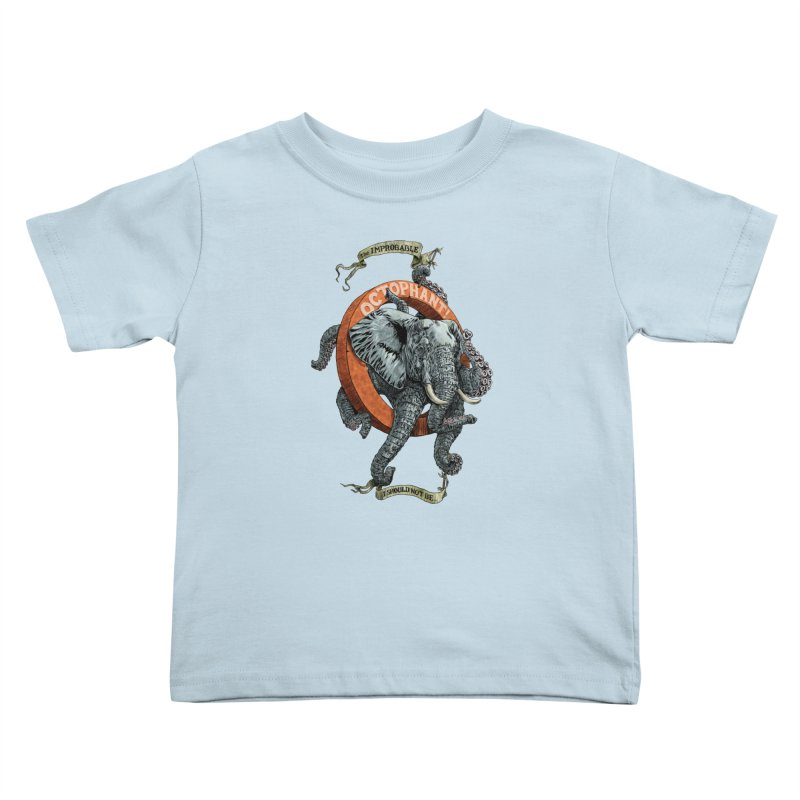 The Improbable Octophant Kids Toddler T-Shirt by Octophant's Artist Shop