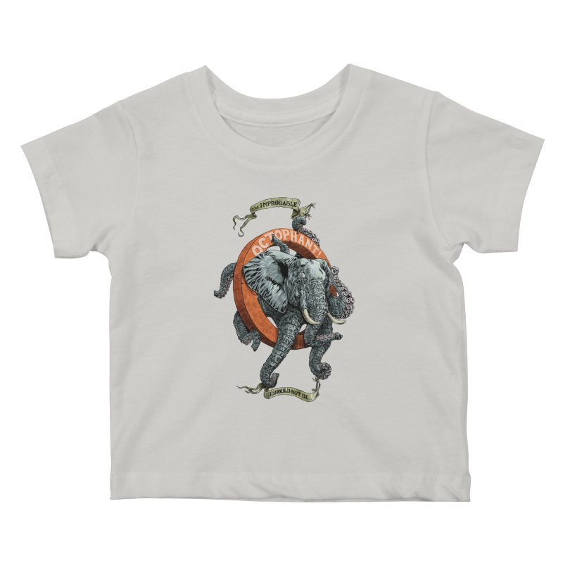 The Improbable Octophant Kids Baby T-Shirt by Octophant's Artist Shop