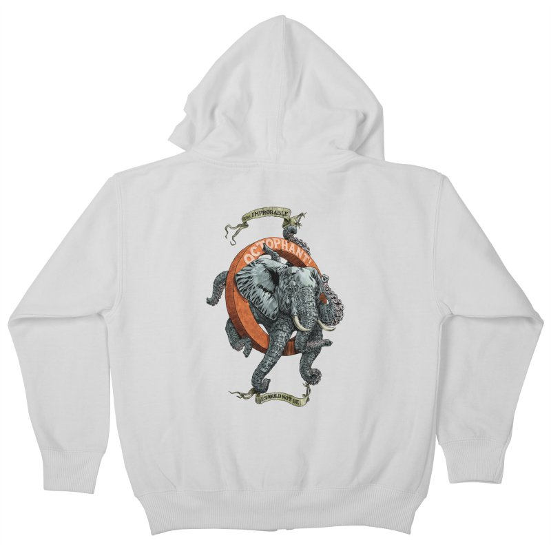 The Improbable Octophant Kids Zip-Up Hoody by Octophant's Artist Shop