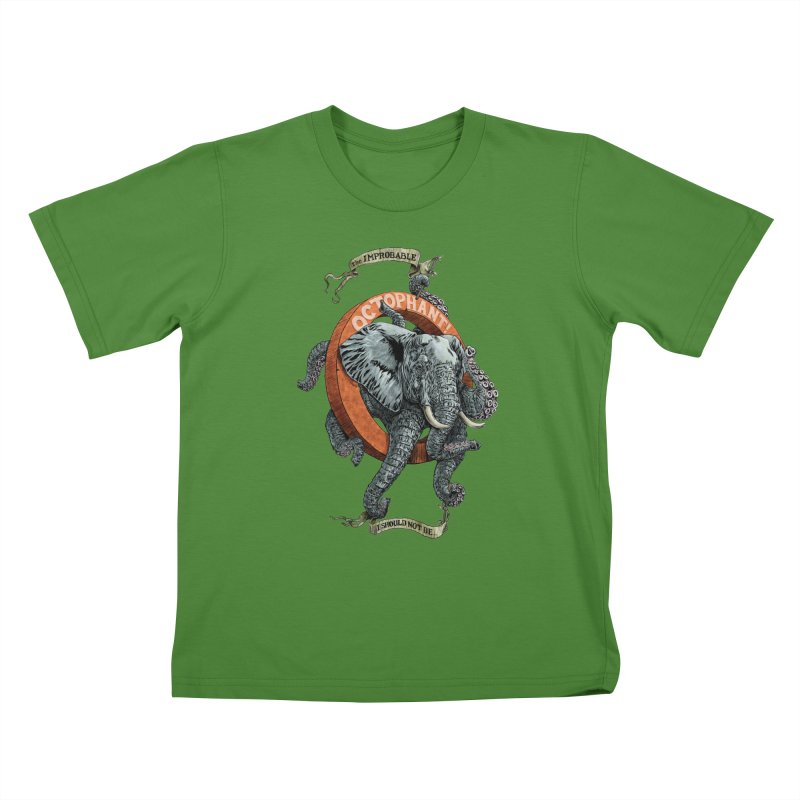 The Improbable Octophant Kids T-shirt by Octophant's Artist Shop