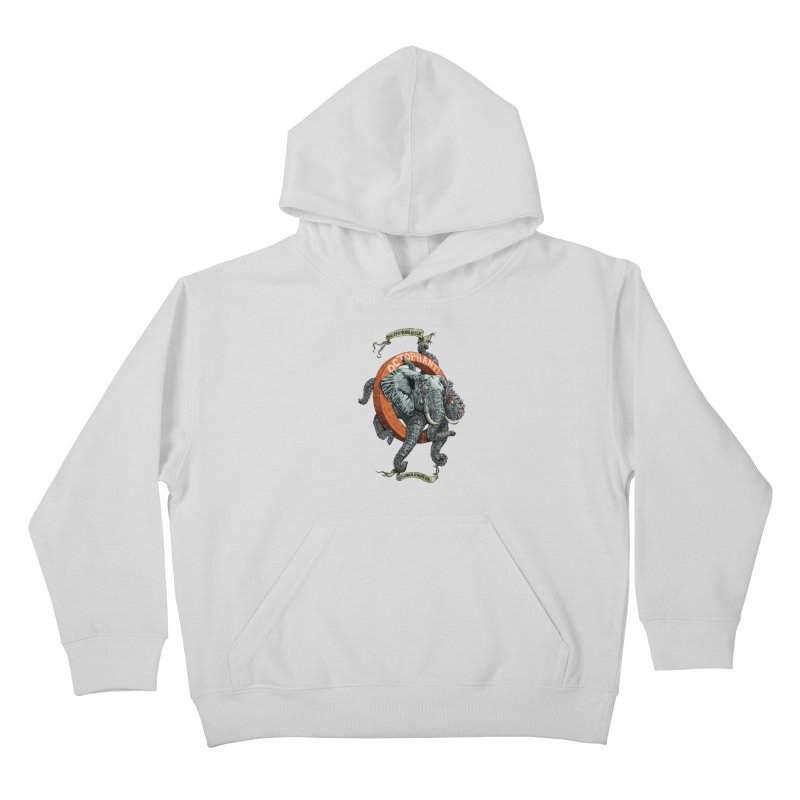 The Improbable Octophant Kids Pullover Hoody by Octophant's Artist Shop