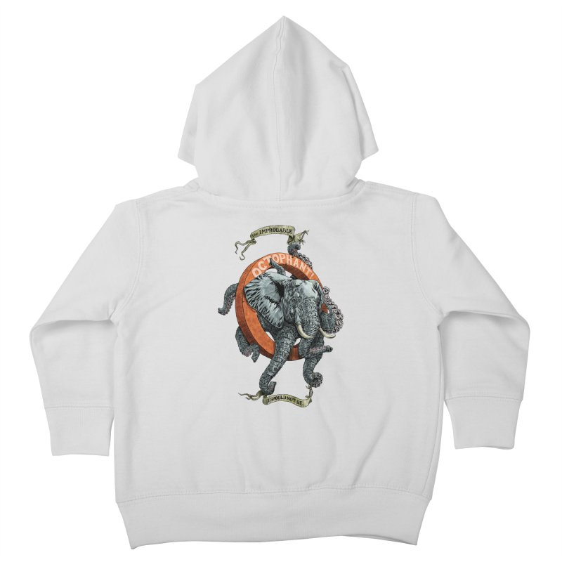 The Improbable Octophant Kids Toddler Zip-Up Hoody by Octophant's Artist Shop