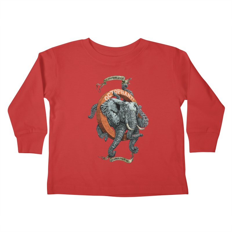 The Improbable Octophant Kids Toddler Longsleeve T-Shirt by Octophant's Artist Shop