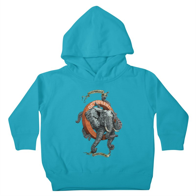 The Improbable Octophant Kids Toddler Pullover Hoody by Octophant's Artist Shop