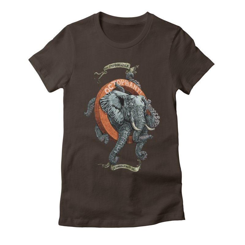 The Improbable Octophant Women's Fitted T-Shirt by Octophant's Artist Shop
