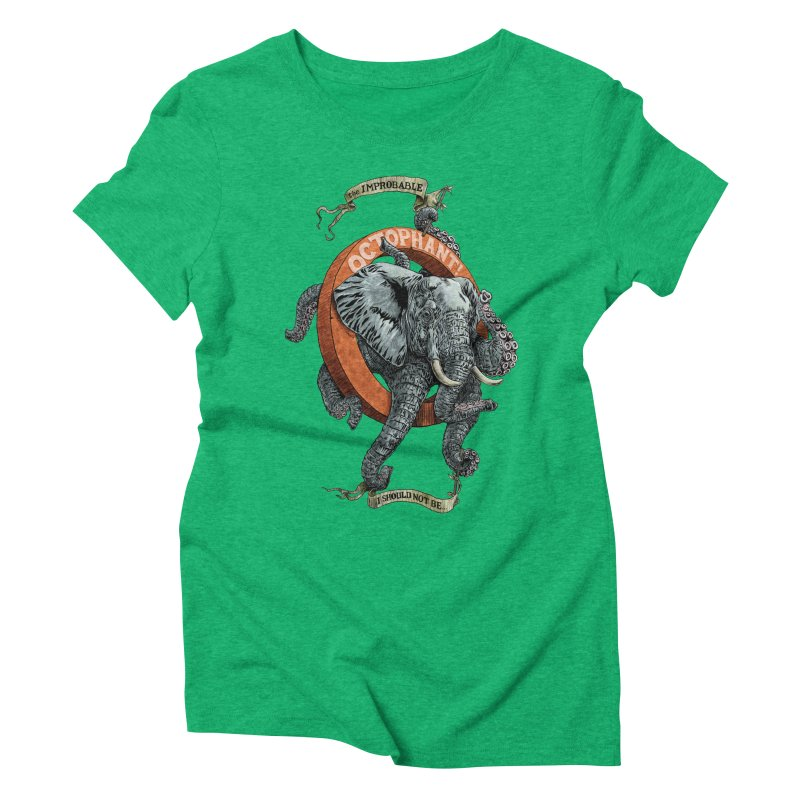 The Improbable Octophant Women's Triblend T-shirt by Octophant's Artist Shop