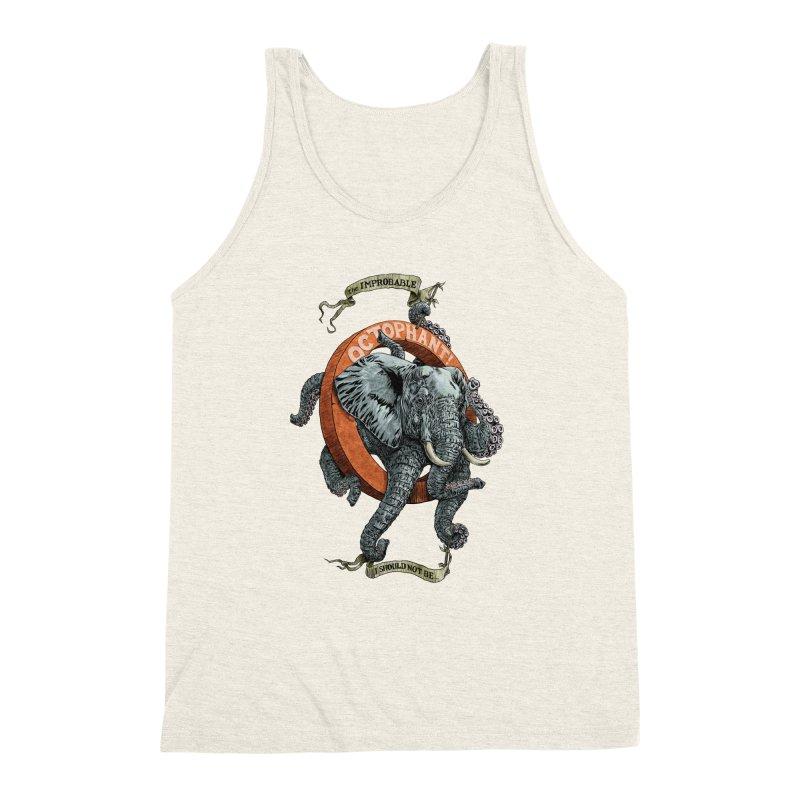 The Improbable Octophant Men's Triblend Tank by Octophant's Artist Shop