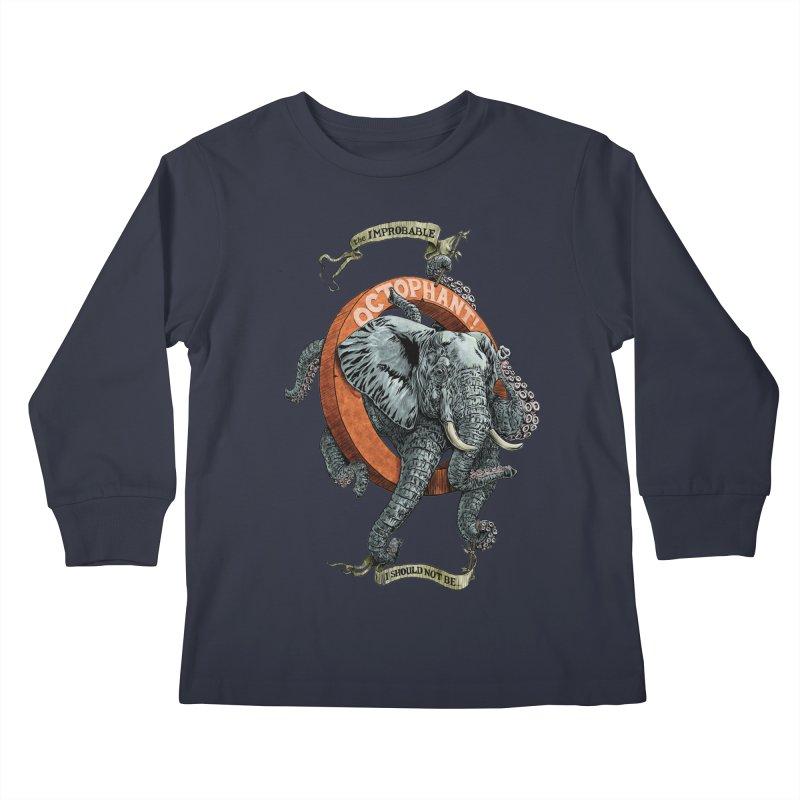 The Improbable Octophant Kids Longsleeve T-Shirt by Octophant's Artist Shop