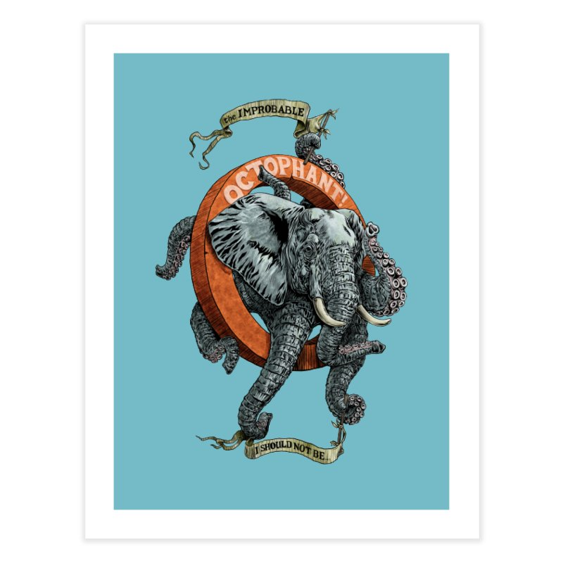 The Improbable Octophant Home Bath Mat by Octophant's Artist Shop