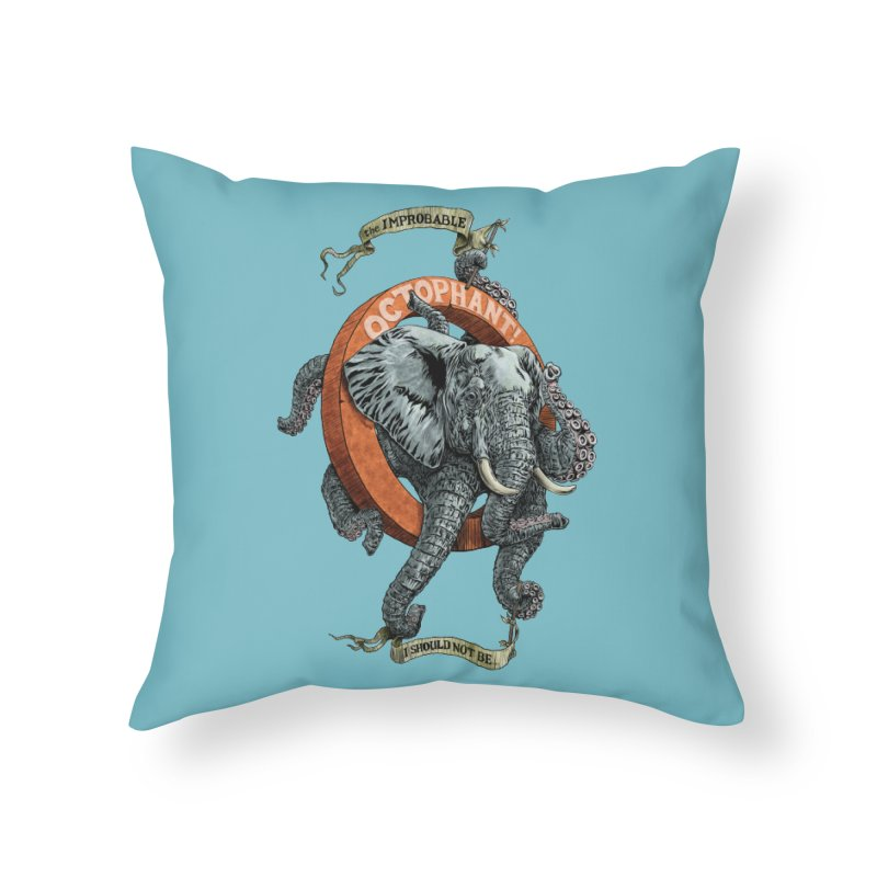 The Improbable Octophant Home Throw Pillow by Octophant's Artist Shop