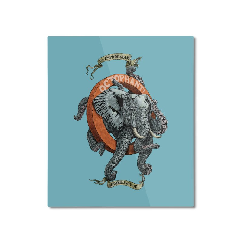 The Improbable Octophant Home Mounted Aluminum Print by Octophant's Artist Shop