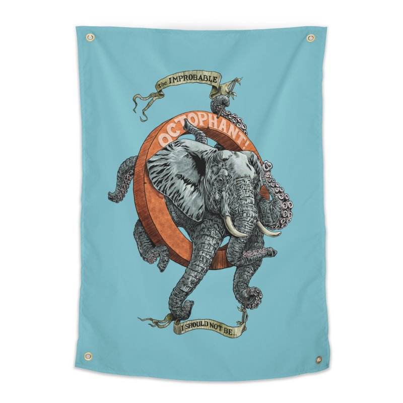 The Improbable Octophant Home Tapestry by Octophant's Artist Shop