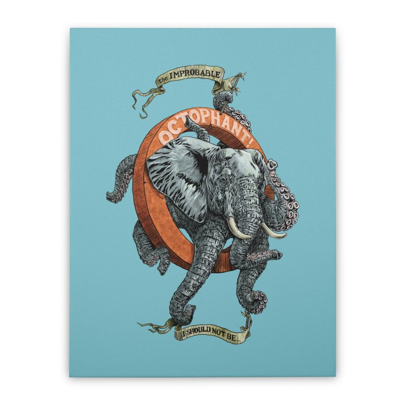 The Improbable Octophant Home Stretched Canvas by Octophant's Artist Shop