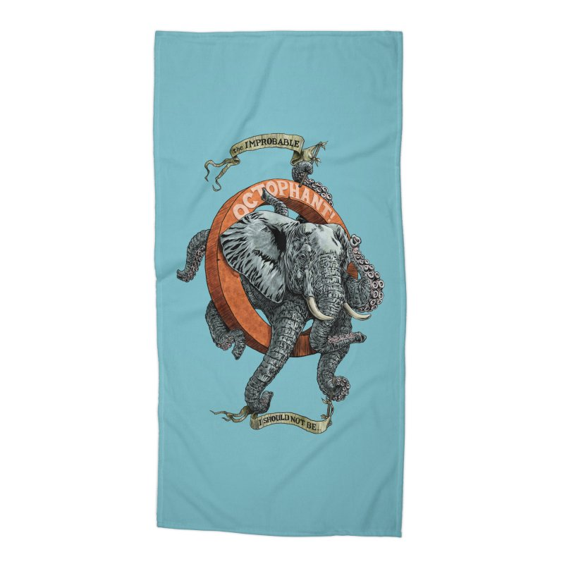 The Improbable Octophant Accessories Beach Towel by Octophant's Artist Shop
